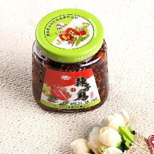 【热卖】厂家直销 200g佐餐下饭炒菜辣子鸡酱 开盖即食调味辣椒酱