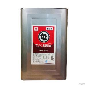 日本日式调料 料理蘸料 龟鹤寿浓口酱油18L铁桶装 料理调料