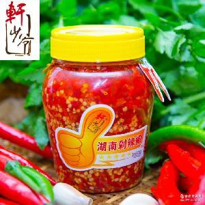 调味辣椒酱开胃下饭地道厂家直销 轩少爷湖南剁辣椒528g*12瓶/箱