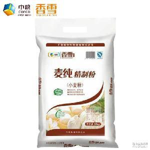 中粮香雪面条水饺通用小麦粉10kg零添加东北中筋粉白面包子馒头粉