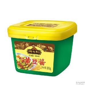 郑友和黄豆酱300g家庭装调味酱特产黄豆大酱原酿酱蘸酱黄豆酱正品
