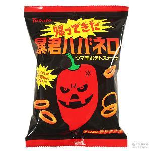 桃哈多tohato暴君蒜香劲辣薯条土豆脆圈56g 日本进口食品膨化零食