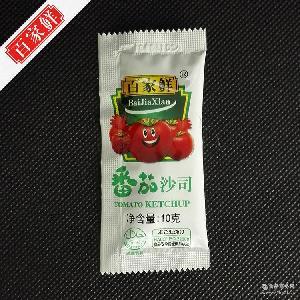 薯条酱 【厂家直营】百家鲜番茄沙司小包10克*300包*2袋/箱