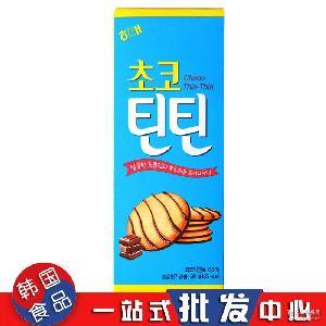 HAITAI海太巧克力芝麻饼干88g*24/箱膨化食品批发 韩国进口零食