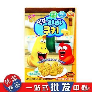 韩国进口零食HAITAI海太奶酪吃货饼干 笑笑虫儿童饼干休闲零食