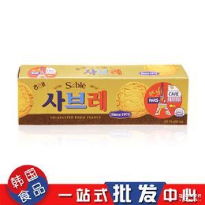 HAITAI海太曲奇饼干105g/盒休闲零食饼干批发 韩国进口零食饼干