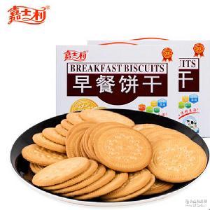 嘉士利1kg早餐饼干牛奶味红枣味原味薄脆饼干休闲多种口味早餐饼