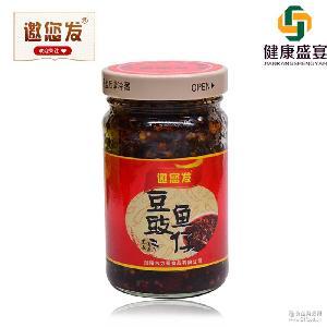 258g瓶湖南浏阳特色辣酱调味品厂家直销健康盛宴 邀您发豆豉鱼仔