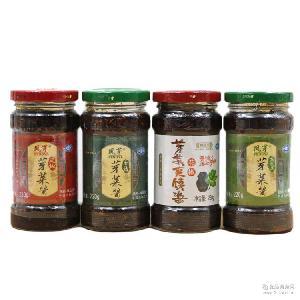辣椒酱 花椒香椿灰灰菜 220克/瓶 凤县芽菜酱 陕西特产 夹馍酱