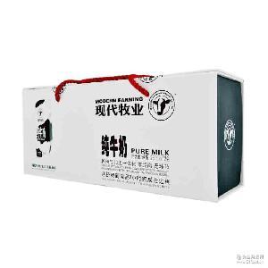 纯 现代牧业纯牛奶礼盒250ml*12包/盒 正品保证 鲜 伴手礼佳品