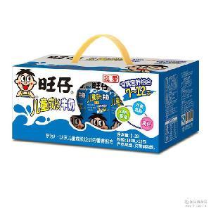 7-12岁儿童配方灭菌调制乳 旺仔儿童成长牛奶190ml盒装 牛奶批发