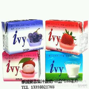 ivy爱菲果汁酸奶 泰国进口 *日期48盒*180ml毫升1箱诚招经销商