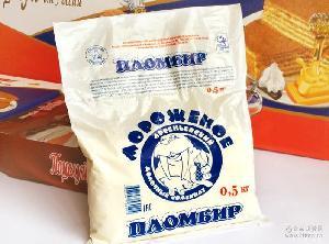 俄罗斯进口海象冰糕500g鲜奶冰淇淋冰激凌纯牛奶冰糕5袋包邮批发