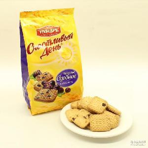 10袋包邮 提子夹心饼干 牛奶巧克力曲奇饼干 俄罗斯进口饼干