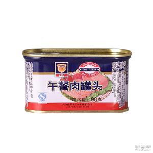 开盖即食 方便熟食 上海梅林午餐肉罐头198g*48