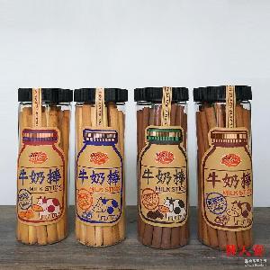 台湾进口零食ssy牛奶棒原味黑糖味起司巧克力磨牙棒牛奶棒