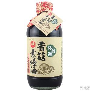 万家香佳酿香菇素蚝油450ml 淡口酱油无添加调味品食品调料批发