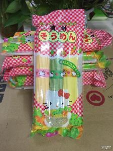19年3月日本Hellokitty播州幼儿童三色蔬菜细面婴儿辅食宝宝营养