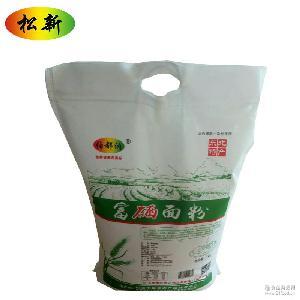 5kg馒头包子通用小麦面粉粮 精选高筋中筋富硒面粉 石磨面粉