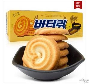 韩国进口海太黄油曲奇休闲食品小吃 饼干糕点办公室零食86g*24
