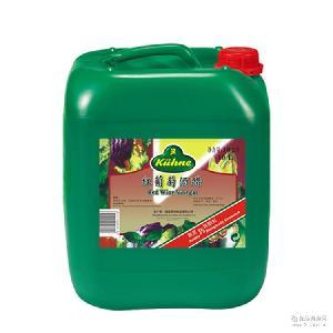 油醋汁沙拉汁 德国进口调味品 红葡萄酒醋食醋 冠利红酒醋10L桶装