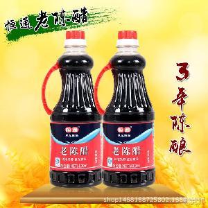 恒通老陈醋调味品800ml*12饺子醋纯手工厂家直销
