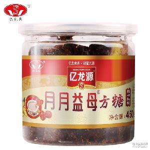 【厂家亿龙源】古法益母方糖450g罐红糖黑糖纯甘蔗老土红糖块
