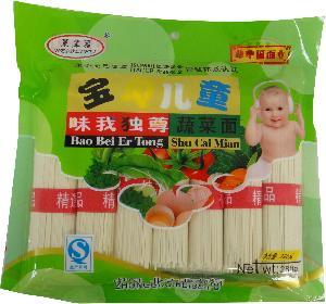 辈辈福食品挂面批发 给宝宝的营养健康面 蔬菜面宝贝儿童面