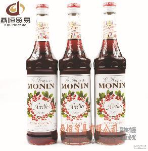 萨酷乐斯糖浆 莫林MONIN糖浆 蔓越莓风味糖浆 批发酒吧用具
