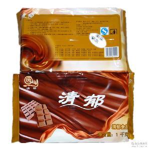 大块烘培彩色巧克力原料块 巧克力蛋糕铲花原料 烘培巧克力原料