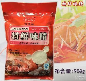 特鲜味精 代鸡精调味料调味品批发 百菜鲜纯无盐908g包装