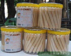 宝宝辅食零食 芝士鱼肠600g 大力士罐装桶装50根鱼肉肠 日本进口