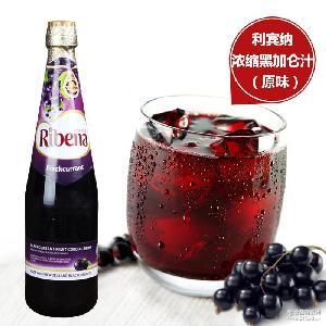 维C果汁饮料品 马来西亚进口 Ribena利宾纳浓缩黑加仑果汁1L*2瓶