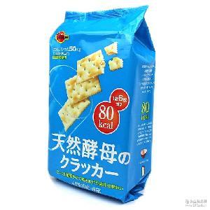 Bourbon 高邦布尔本天然酵母苏打饼干147g 48枚入 日本进口零食品
