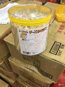 芝士鱼肠 50根/桶装 营养进口食品 鱼肉肠600g 日本零食批发