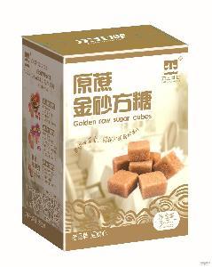 奶茶咖啡伴侣调糖盒装方糖 供应批发速溶原蔗金砂方糖