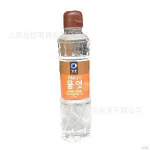 韩国进口水饴水怡 太妃牛轧糖用烘焙700g 清净园玉米麦芽糖浆水稀