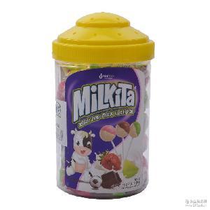 优你康罐装牛奶棒棒糖零食批发 爆款进口糖果 休闲食品多味棒棒糖