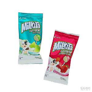 牛奶棒棒糖 进口产品 棒棒糖 印尼优你康 216g*(9g*24袋)*6条/箱