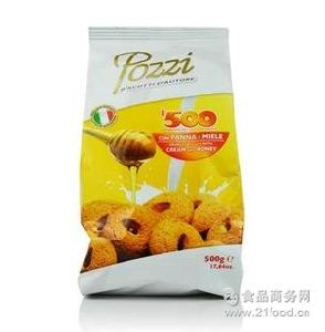 pozzi彼得曲奇 进口九州娱乐官网 意大利原装进口零食 饼干 500g多口味