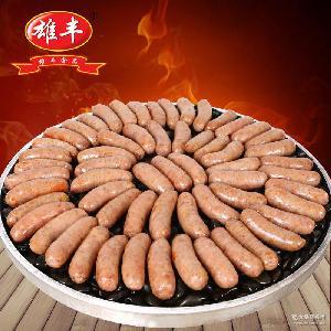 雄丰 地道肠纯肉辣味火山石烤肠1500g烧烤肠台湾热狗烧烤香肠批发