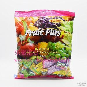 喜糖 果汁糖 500g 原装进口马来西亚果超软糖