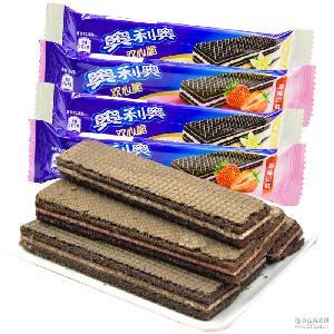 奥利奥双心脆威化散装 休闲零食 饼干 可混拼发 香草味 整箱3公斤