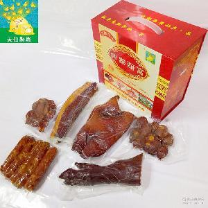 排骨 天仙聚鑫富硒猪腊肉 四川腊肠烤肠特产礼品盒泸州