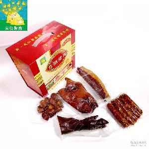 天仙聚鑫富硒猪腊肉 腊排骨肠 四川腊肠泸州特产香肠礼品批发代理