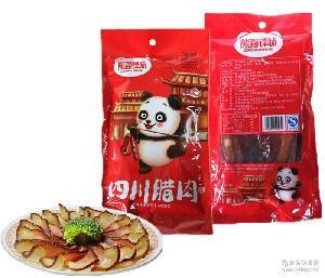 手工自制农家柴火烟熏土猪肉 熊猫锋味四川腊肉500克 腌肉