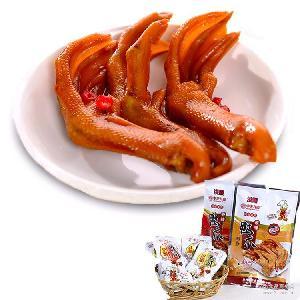 即食酱卤肉制品 中卤食品鸭爪批发 香辣味原味鸭肉鸭爪闽南特产