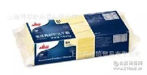 白片(汉堡奶酪片 安佳再制切达芝士片80片-黄片 新西兰原装进口)