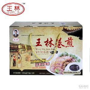 饭店鸡蛋猪肉卷煎批发 厂家直销王林卷煎礼品箱装卷煎扦子凉菜