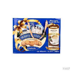 进口马来西亚白色城堡黄油曲奇饼干908g送咖啡点心零食小吃